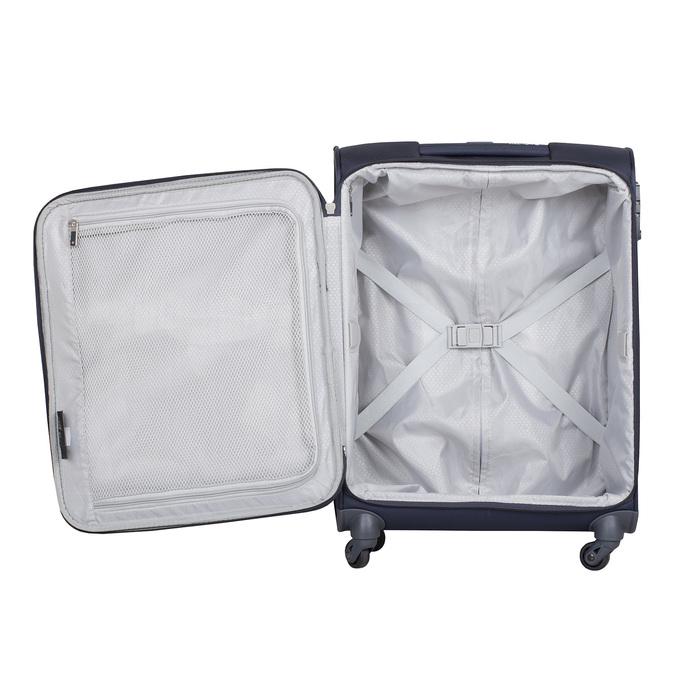 Modrý cestovní textilní kufr samsonite, modrá, 960-9037 - 17