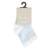 Bílé dětské ponožky s modrými proužky bata, modrá, 919-9766 - 13