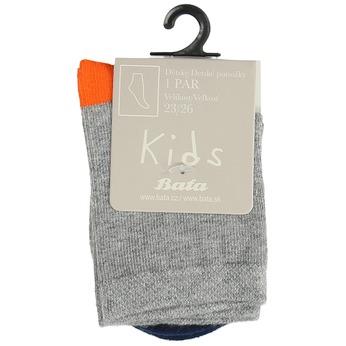 Šedé dětské ponožky s barevnými detaily bata, šedá, 919-9685 - 13