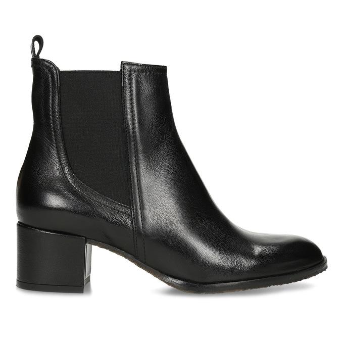 Dámská černá kožená Chelsea obuv bata, černá, 694-6624 - 19