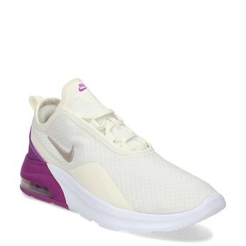 Béžové dámské tenisky s fialovým detailem nike, béžová, 509-8155 - 13
