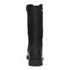 Dětské černé kožené kozačky na zip richter, černá, 396-6611 - 15