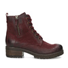 Červené dámské kotníčkové kožené kozačky bata, červená, 696-5603 - 19