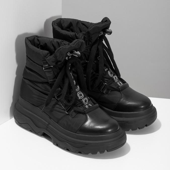 Dámská černá zimní obuv s masivní podešví bata, černá, 591-6625 - 26