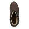 Dámské hnědé kozačky z broušené kůže bata, hnědá, 696-4602 - 17