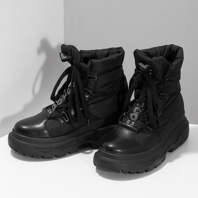 Dámská černá zimní obuv s masivní podešví bata, černá, 591-6625 - 16
