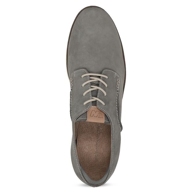 Šedé pánské polobotky z broušené kůže weinbrenner, šedá, 846-2625 - 17