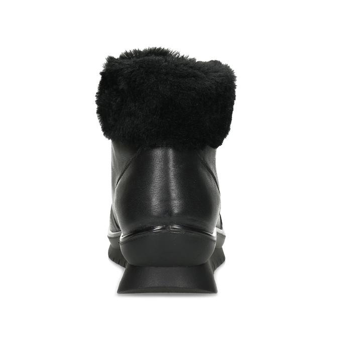 Dámská černá kožená kotníčková obuv comfit, černá, 594-6645 - 15