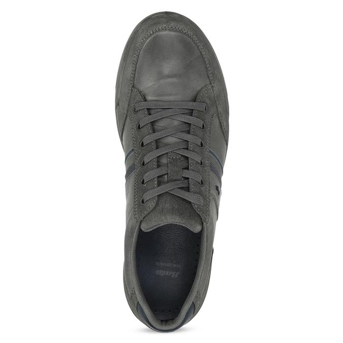 Kožené pánské ležérní tenisky bata, šedá, 846-2714 - 17