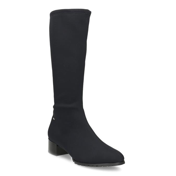 Černé dámské kozačky na stabilním podpatku hogl, černá, 699-6103 - 13