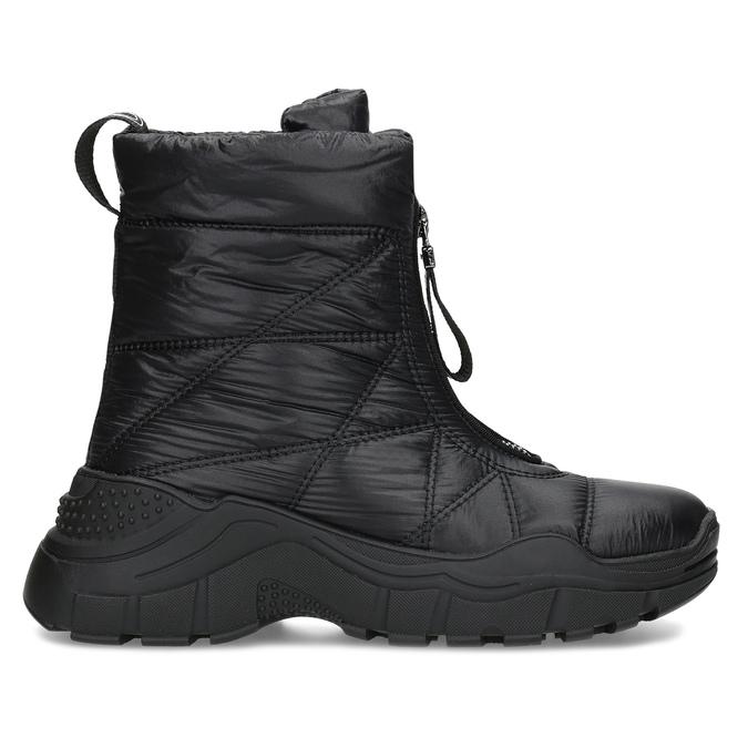 Černé dámské sněhule se zipem bata, černá, 591-6650 - 19
