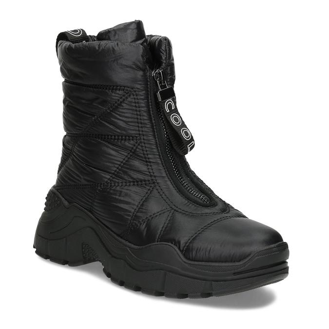 Černé dámské sněhule se zipem bata, černá, 591-6650 - 13