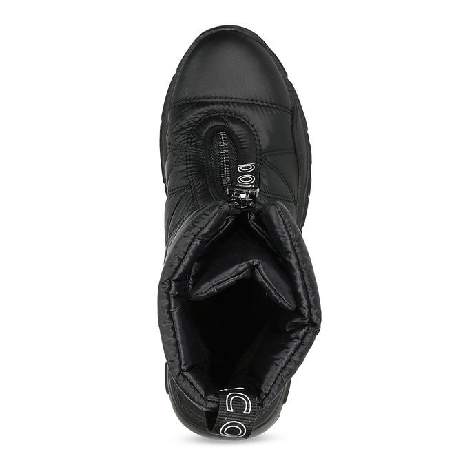 Černé dámské sněhule se zipem bata, černá, 591-6650 - 17