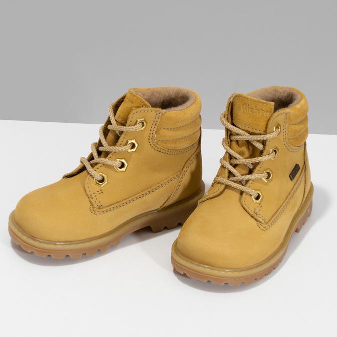 Dětská obuv ve stylu Worker s kožíškem richter, žlutá, 126-8614 - 16