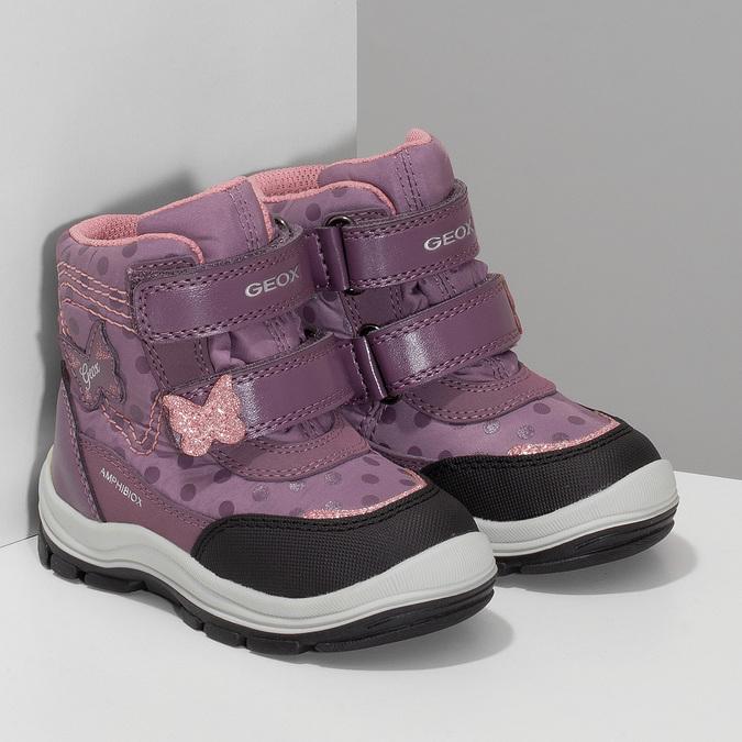 Fialová dětská zimní obuv na suché zipy geox, fialová, 199-5136 - 26