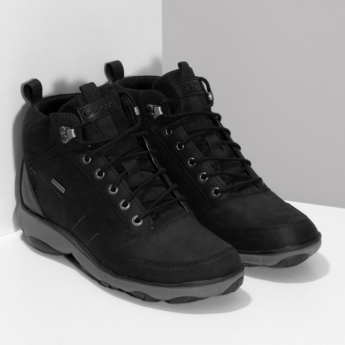 Kotníčková pánská kožená obuv v Outdoor stylu geox, černá, 846-6368 - 26