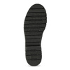 Dámské kožené kotníčkové kozačky se cvoky bata, černá, 596-6608 - 18