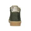 Kožená dětská zelená kotníčková obuv mini-b, zelená, 423-7608 - 15