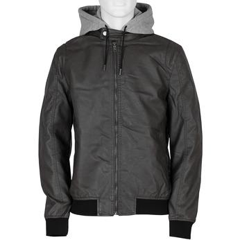 Šedá pánská bunda s kapucí bata, šedá, 971-7246 - 13
