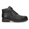 Pánská černá kožená kotníčková obuv bata, šedá, 896-2748 - 19