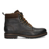 Pánská hnědá kožená kotníčková obuv bata, hnědá, 896-4748 - 19