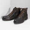 Pánská hnědá kožená kotníčková obuv bata, hnědá, 896-4748 - 16