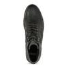 Pánská černá kožená kotníčková obuv bata, šedá, 896-2748 - 17