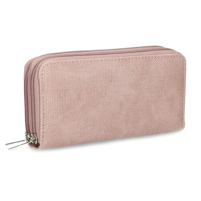 Dámská růžová peněženka na zip bata, růžová, 941-5618 - 13