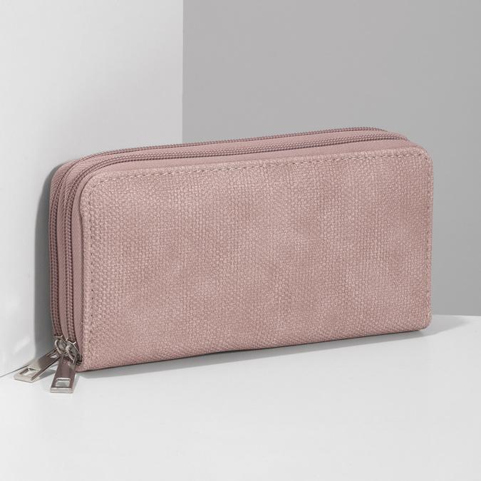 Dámská růžová peněženka na zip bata, růžová, 941-5618 - 17