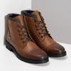 Hnědá pánská kožená kotníčková obuv bata, hnědá, 896-3764 - 26