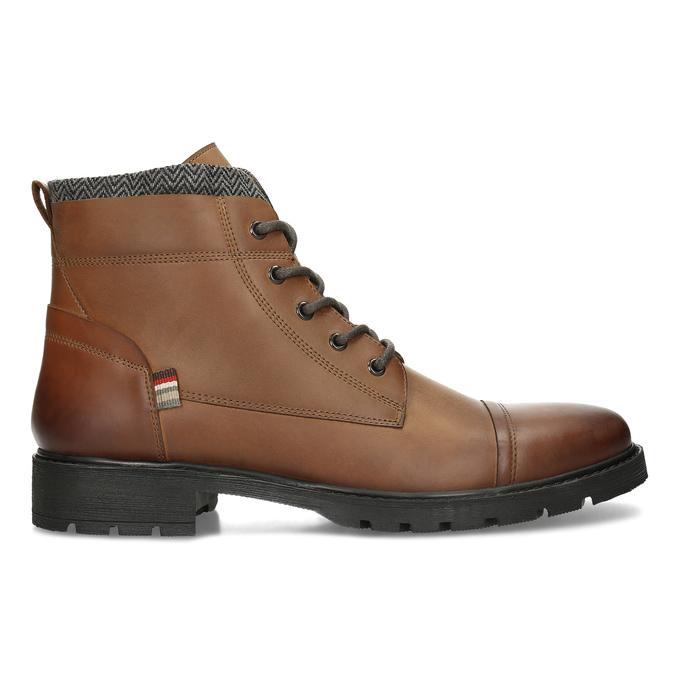 Hnědá pánská kožená kotníčková obuv bata, hnědá, 896-3764 - 19