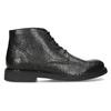 Pánská černá kožená kotníčková obuv bata, černá, 894-6705 - 19