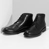 Pánská černá kožená kotníčková obuv bata, černá, 894-6705 - 16