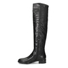 Černé dámské kožené vysoké kozačky bata, černá, 594-6623 - 17