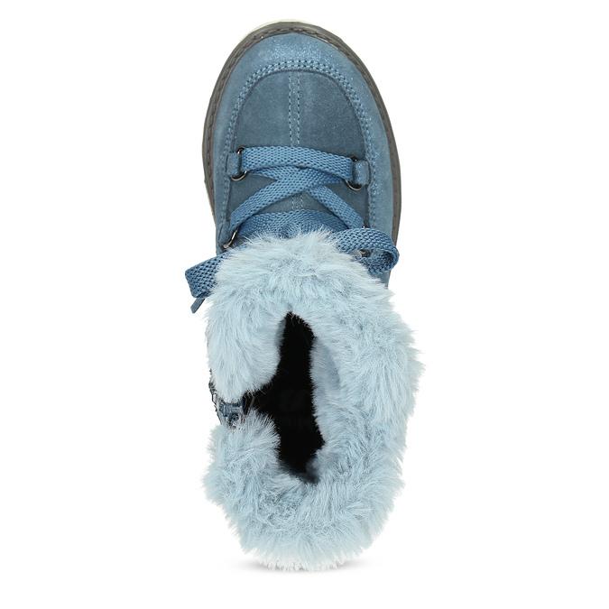 Modré dětské kožené sněhule se zateplením mini-b, modrá, 493-9622 - 17