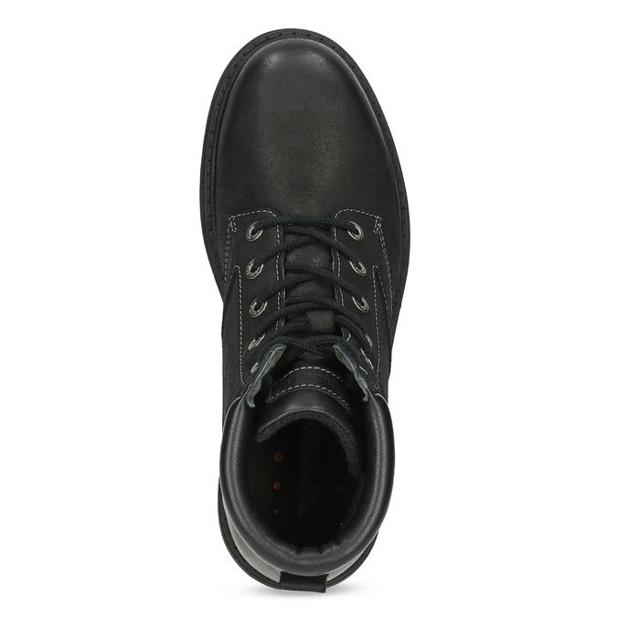 Černá kožená kotníčková obuv s prošitím weinbrenner, černá, 896-6693 - 17
