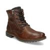 Pánská kožená kotníčková obuv bata, hnědá, 896-4745 - 13