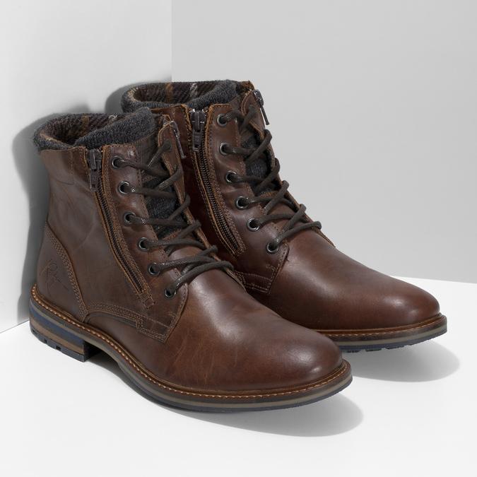 Pánská kožená kotníčková obuv bata, hnědá, 896-4745 - 26