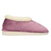 Fialová dámská domácí obuv se zateplením bata, fialová, 579-9641 - 19
