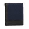 Kožená černá peněženka s modrou částí bata, černá, 944-9622 - 26