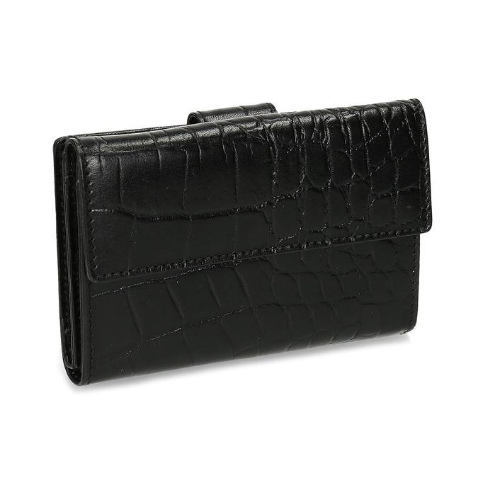 Dámská kožená peněženka se strukturou bata, černá, 944-6617 - 13