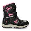 Dětská černá zimní obuv s růžovými detaily mini-b, černá, 491-6668 - 19