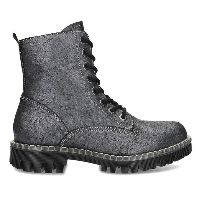 Dámská kožená metalická kotníčková obuv bata-125th-anniversary, černá, 549-6604 - 19