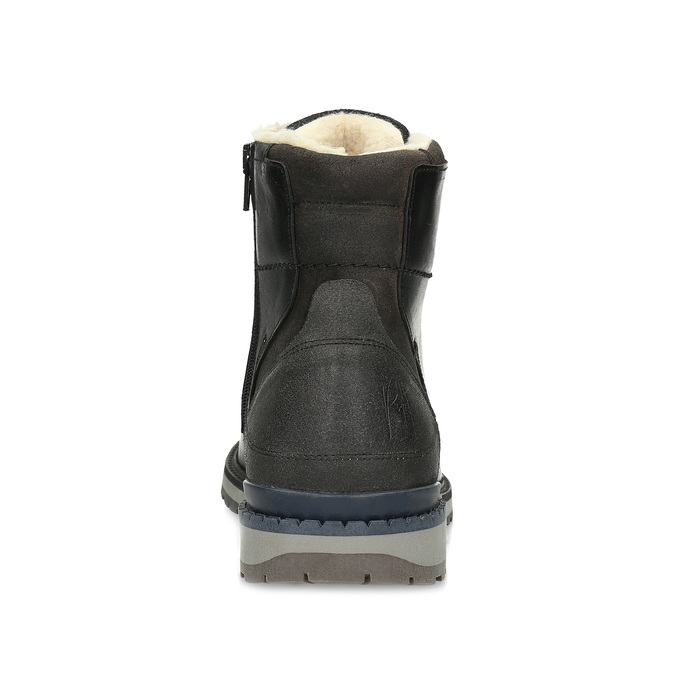Pánská černá kožená zimní obuv bata, černá, 896-6746 - 15