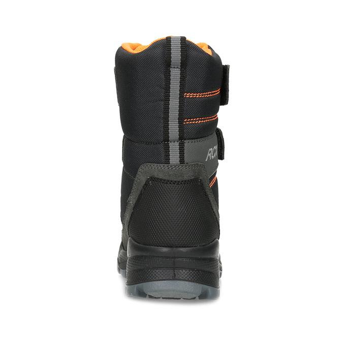 Dětská kožená zimní obuv na suché zipy mini-b, šedá, 299-2623 - 15