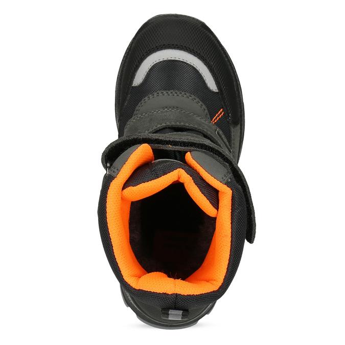 Dětská kožená zimní obuv na suché zipy mini-b, šedá, 299-2623 - 17