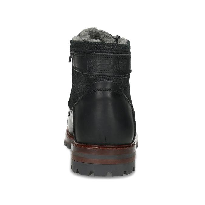Černá pánská kožená kotníčková obuv bata, černá, 896-6747 - 15