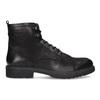 Pánská černá kožená kotníčková obuv bata, černá, 896-6752 - 19