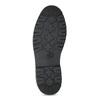 Kotníčková pánská kožená zimní obuv bata, černá, 894-6760 - 18