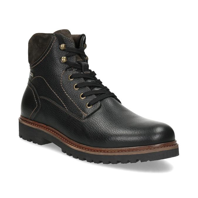 Kotníčková pánská kožená zimní obuv bata, černá, 894-6760 - 13